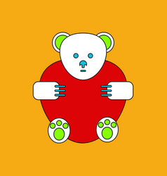 Flat icon design collection teddy bear vector