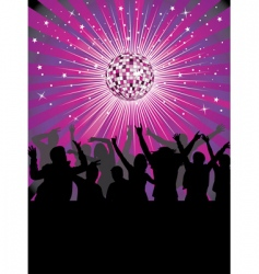 Nightlife in the disco club vector
