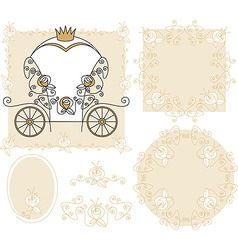 set wedding decoration vector image