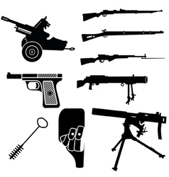 weapon and artillery 2 vector image