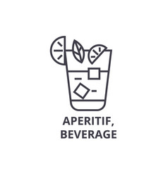aperitif beverage line icon outline sign linear vector image vector image