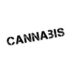 Cannabis rubber stamp vector