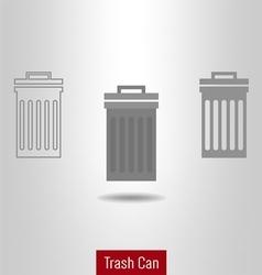 Trashcan icon set vector image