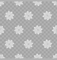 abstract pattern of transparent falling snowflakes vector image vector image