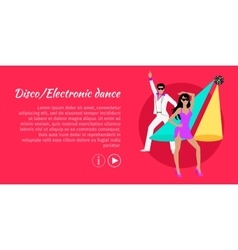 Disco and Electronic Dance Web Banner vector image vector image