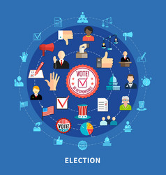 online voting circular icons set vector image vector image