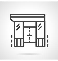Shopping center black line design icon vector image
