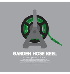 Side View Of Garden Hose Reel vector image vector image