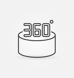 360 degrees minimal concept outline icon vector