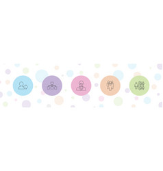 5 manager icons vector