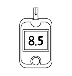 a device for measuring the level of blood sugar vector image