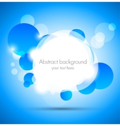 Abstract background with blue and white circles vector image