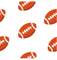 american football ball pattern sport vector image