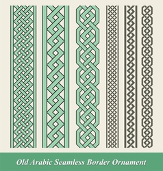 Arabic and Islamic seamless border ornament vector