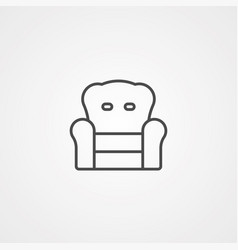 armchair icon sign symbol vector image