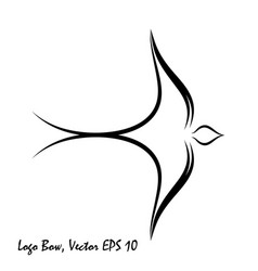 bird bow vector image