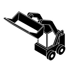Bobcat machine icon simple style vector