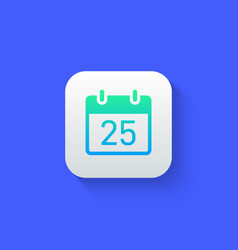 calendar icon modern futuristic style with long vector image