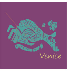 City map of venice with well organized separated vector