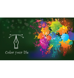 Colorful creative background Idea and concept vector image
