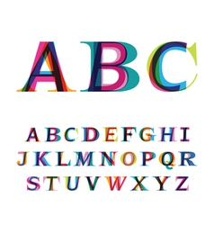 Colorful font consisting three letters vector