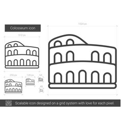 Colosseum line icon vector