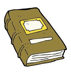 Comic cartoon old book vector