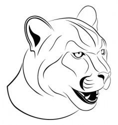 cougar tattoo vector image