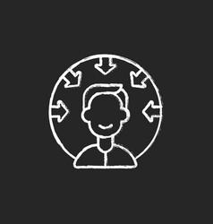 customer centricity chalk white icon on black vector image