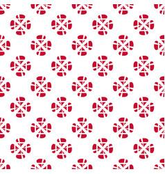 Danish flag flower pattern vector