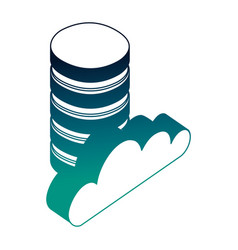 data center disks and cloud computing isometric vector image