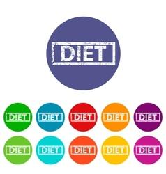 Diet flat icon vector