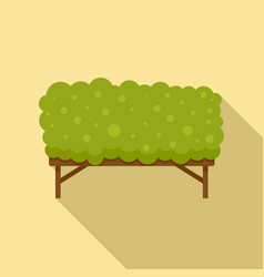Dog training grass barrier icon flat style vector