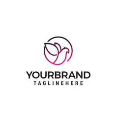 dove elegant logo design concept template vector image