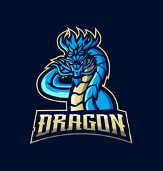 Dragon esport logo vector