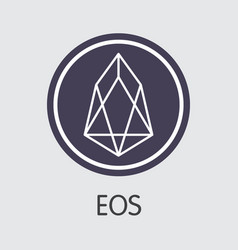 eos digital currency - coin vector image