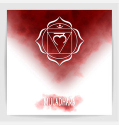 first root chakra - muladhara vector image