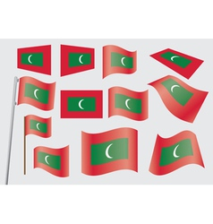 flag of Maldives vector image