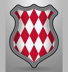 Flag of monaco alternate design version badge vector