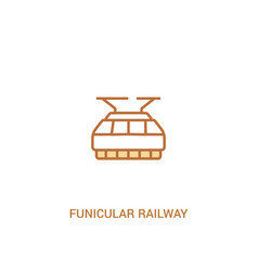 Funicular railway concept 2 colored icon simple vector