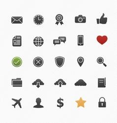 Generic symbol icon set vector image
