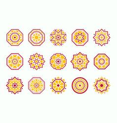geometric mandala symbols set vector image