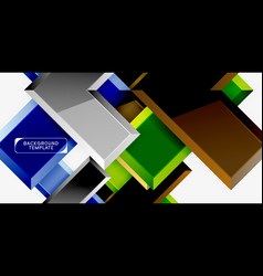 glossy modern geometric background abstract vector image