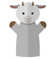 Goat hand puppet doll for theatre show vector
