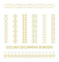 Golden outline borders vector