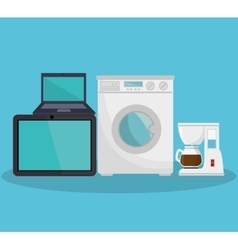 home appliances set icons vector image