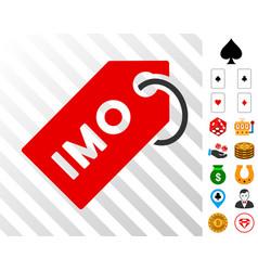 Imo tag icon with bonus vector