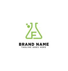 Initial f molecular dna logo design template icon vector