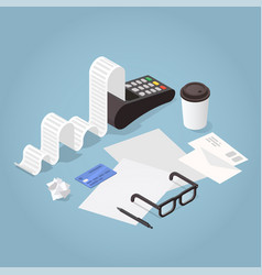 isometric bill payment vector image
