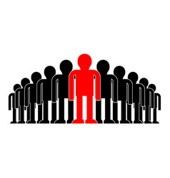 Leader in crowd boss concept business vector